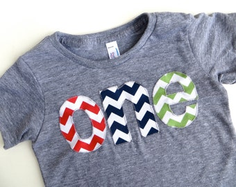 one for 1st Birthday chevron Number for any Birthday- pick your colors