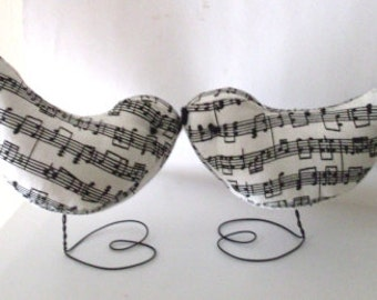 Sweet Music Birds Wedding Cake Topper Ornaments Favors Showers