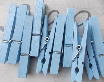Peekaboo baby blue clothespins