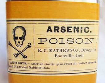 Arsenic Poison Flask - FREE SHIPPING