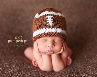 Baby Football Beanie Photo Prop, MADE TO ORDER