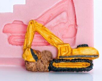 Excavator Silicone Mold, resin mold, jewelry mold, clay mold, PMC mold, polymer clay mold, food safe mold (823)