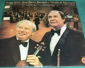 Isaac Stern / Jean-Pierre Rampal Play Vivaldi & Telemann Jerusalem Music Center Chamber Orchestra Vintage Vinyl 1978 Columbia Masterworks LP