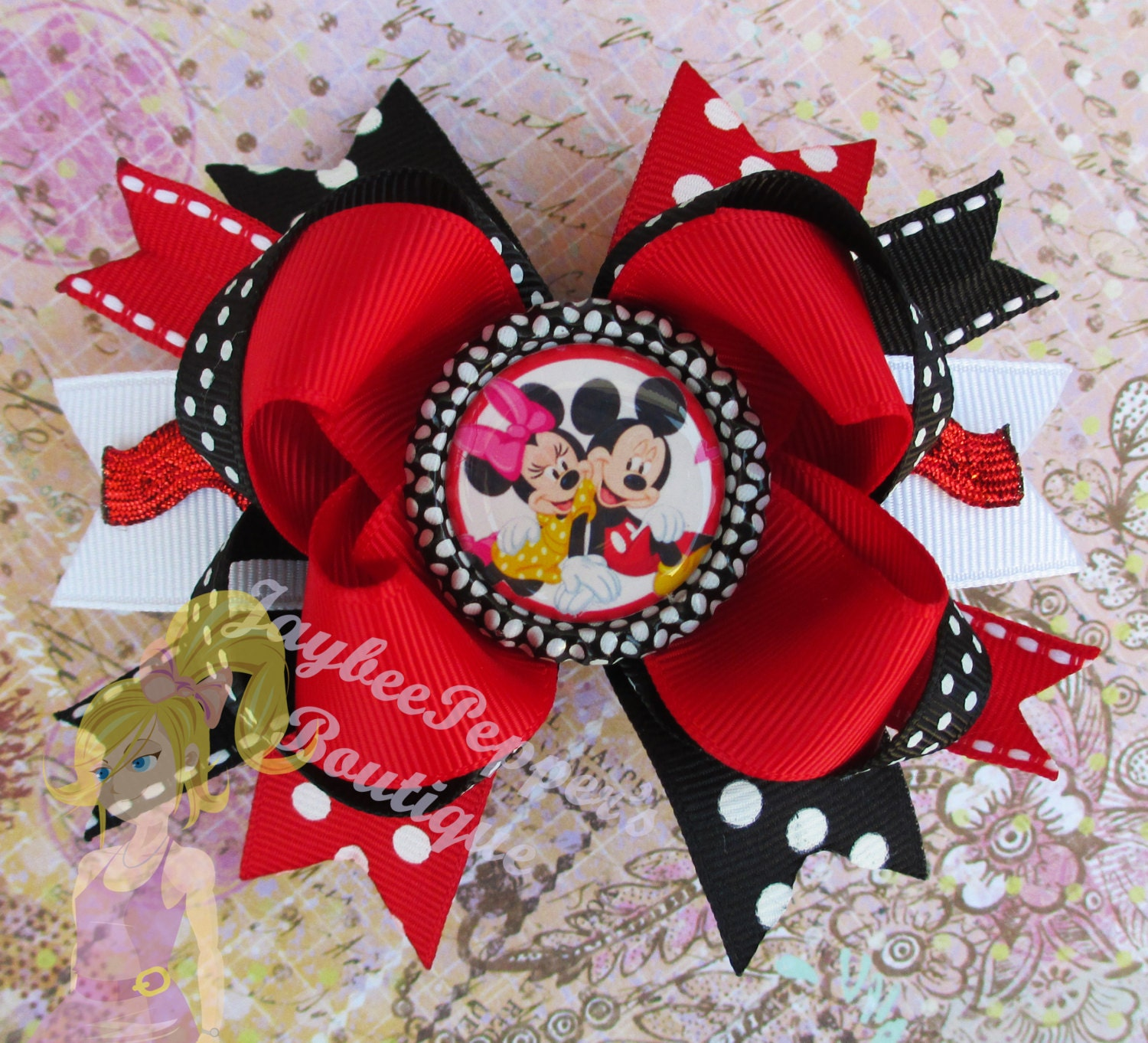 Minnie Mouse Hair Bows Mickey Mouse Bottle Cap Over The Top