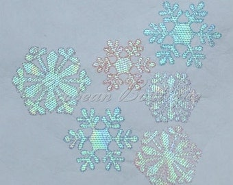 mylar Snowflakes applique embroidery