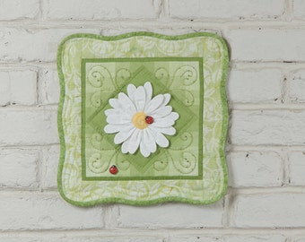 3D Daisy Wall Quilt Kit, Grass Green
