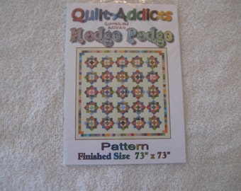 "Quilt Addicts Pattern for Hodge Podge Quilt 73"" Square"