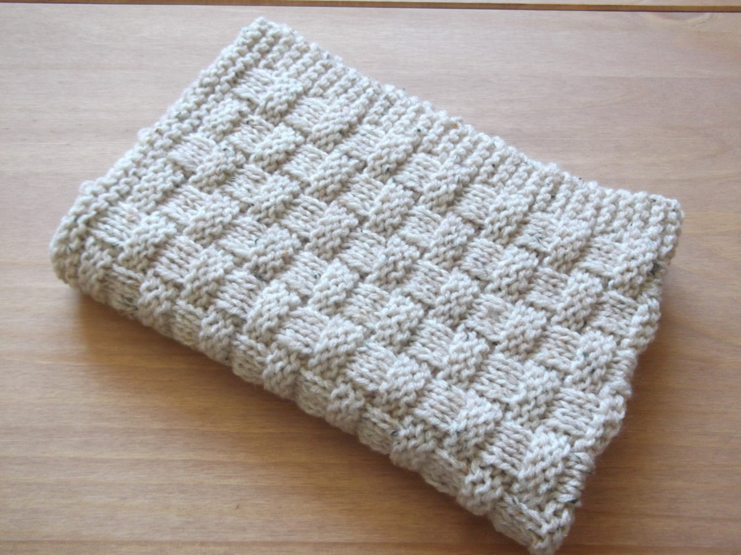 Quick And Easy Basket Weave Baby Blanket Basket Stuffer