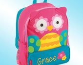 Backpack - Personalized and Embroidered - Sidekick Backpack - PINK OWL