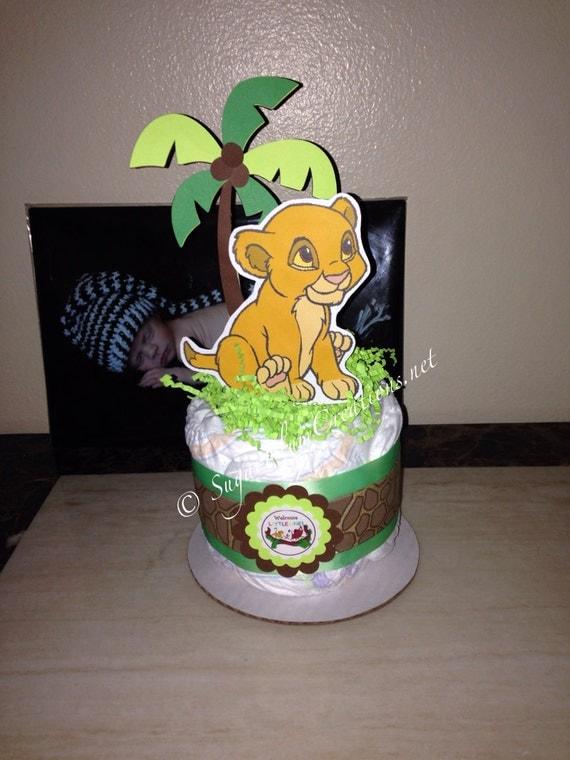 baby simba diaper cake mini lion king baby shower lion king theme