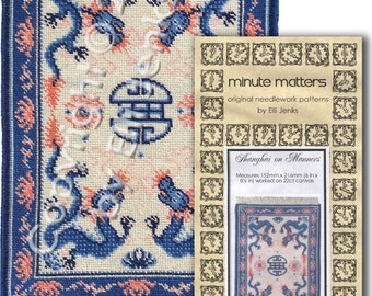 Dollhouse Chinese Carpet Pattern - Shanghai on Manners