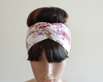 Twist Printed Headband. Head Wrap
