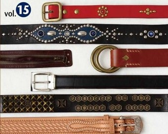 Leather Belts and Bracelet by Studio Tac Creative Japanese Craft Book (In Chinese)