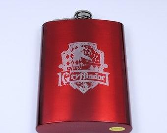 Harry Potter Gryffindor House Crest 8 oz Flask