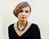 Black Amber Necklace Gemstone Earthy Dark Night Woman Black Fashion Amber Jewelry