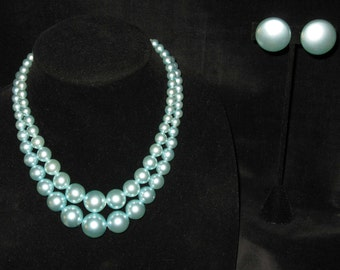 Cool Blue Mid-Century Classic Necklace Set