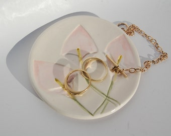 Wedding Ring Dish/Plate  Bridal Showers Favors Jewelry Organiser - Ships today
