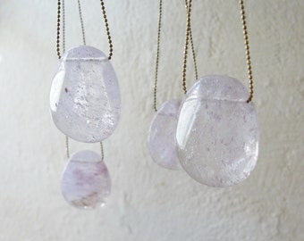 Mystical Healing Clear Quartz Stone Necklace