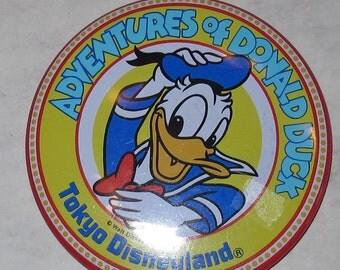 vintage disney disneyland toyko button donald duck
