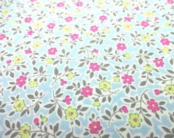 SALE Japanese Fabric Little Lovely Flower Saxe Blue  FQ