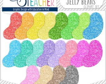 Glitter Jelly Beans Clip Art Set!!
