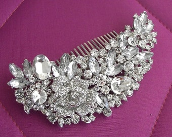 SALE- Swarovski Bridal Hair Comb, Wedding Hair piece, Wedding hair Comb, Bridal hair accessories, Crystal hair comb, Bridal headpiece