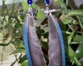 Cruelty Free Genuine North American Blue Jay Feather Earrings