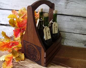 Wine Caddy,Wine Carrier, Wine Tote, Wine Bottle Carrier, Wedding Gift, Wine Holder, Wine Bottle Tote, Bottle Carrier