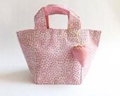 GIRL's Mini BAG / Gift for Girl / Birthday Gift / Girls Favor / STRAWBERRY / Girl's Purse / Spring / Floral / Rose / Pink