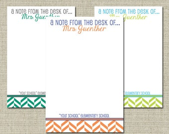 Personalized Teacher Notepad