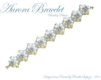 Bead Pattern Aurora Bracelet - Pdf file Only for Personal Use