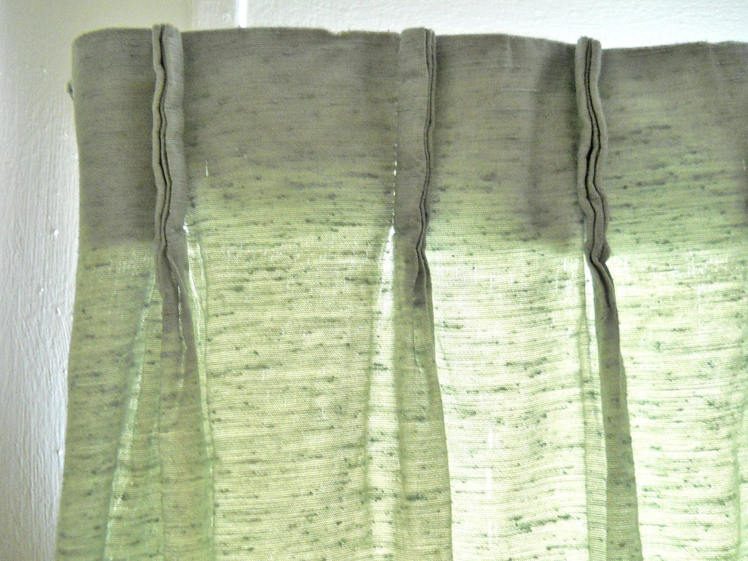 Sage Green Curtains Mid Century Drapes Mid Century Curtains