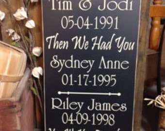 Important Dates Sign, Established Family Sign, Personalized First We Had Each Other Sign, Custom Family Date Sign, Wood Date Sign