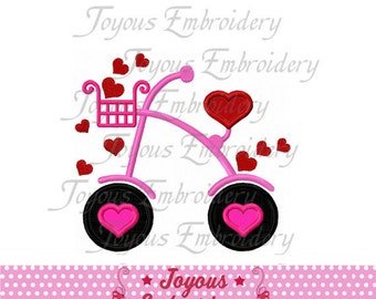 Instant Download Valentine's Day Bicycle Applique Machine Embroidery Design NO:1453