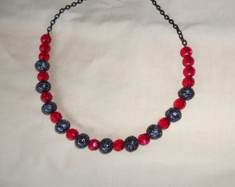 Black and Red Gothic Necklace