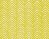 Designer Removable Wallpaper - Modern Herringbone Chevron Print - Marigold Yellow