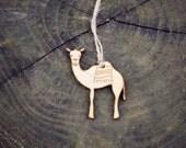 Camel Ornament Wood Laser Cut Heirloom African Animal Safari Zoo Natural