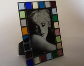 4 X 6 picture frame - stained glass - vertical or horizontal