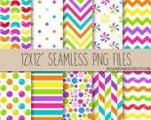 "Instant Download, SEAMLESS, Candy Buffet, Sweet Shoppe, Digital Paper Pack, 12x12"", Scrapbooking Papers, Party Papers"