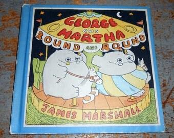 Vintage Book, George and Martha, Hippopotamus, Child's Story Book, Hippos,  Blue Book, James Marshall, 1988, Publication