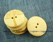 10pcs Wood carving buttons / wood buttons pear / 3.0cm diameter wooden buttons love tree -mnk038