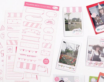 Deco Sticker Set Ver 3 - Diary Sticker - Masking Sticker - Paper Sticker - 6 Sheets in