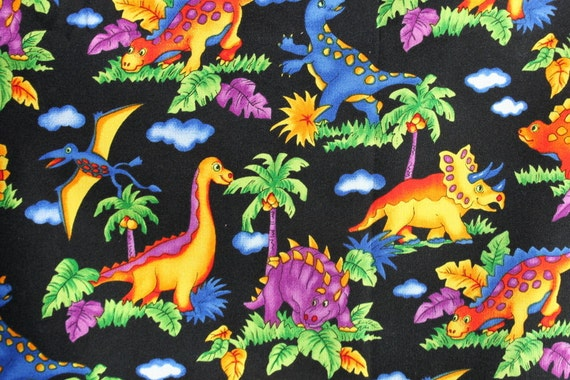 Kids fabric dinosaur quilting cotton 1 yard giggles by hoffman for Childrens cotton fabric by the yard