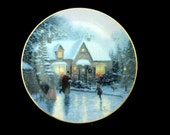Homespun Holiday Thomas Kinkade Porcelain Collector Plate