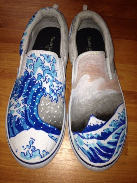 Fabric Painted Wedding Shoes