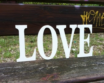 Individual wooden letters. 0.5 custom