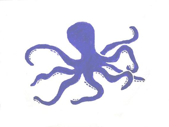 Octopus wall stencil. Sealife nursery art. by ...