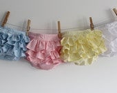 Diaper Cover, Ruffled Diaper Cover, Photo Prop, baby shower gift