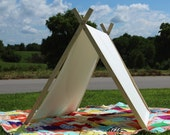 Play Tent Canvas Tent and Frame • A-Frame tent • duck canvas