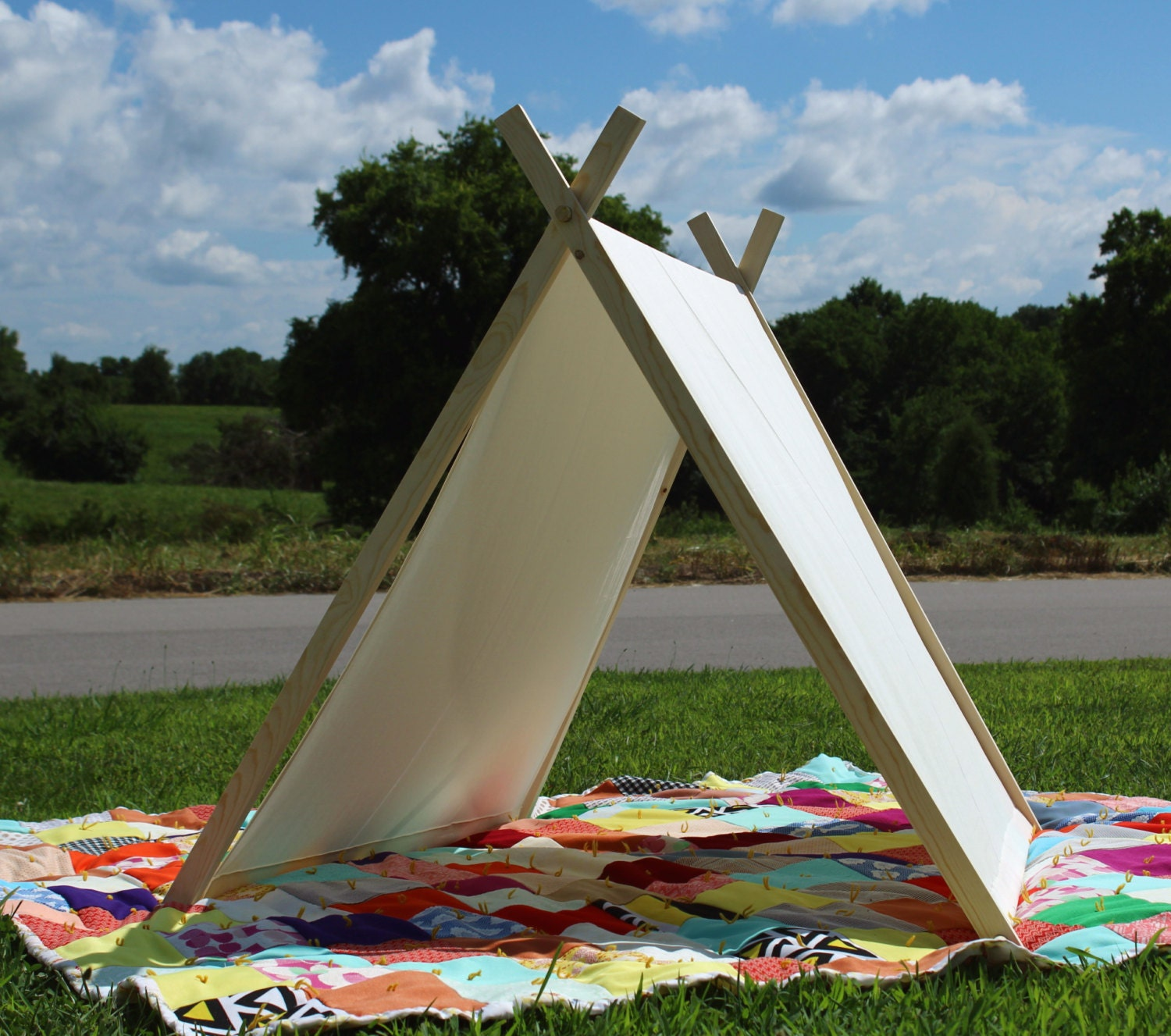 Play tent canvas tent and frame a frame tent by southernblush for How to build a canvas tent frame